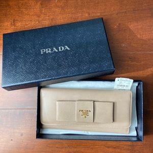 Prada bow wallet